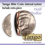 Biting Coin (Half Dollar - Internal w/extra piece) (D0044) from Tango - Bissmünze
