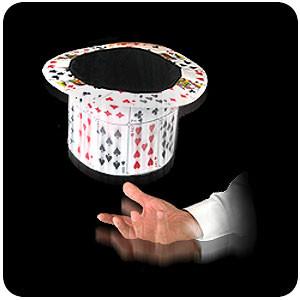 Card fan to top hat
