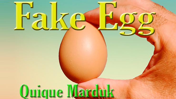 Fake Egg Brown by Quique Marduk / PVC Ei