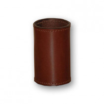 Leather Coin Cylinder (Brown, Dollar Size)