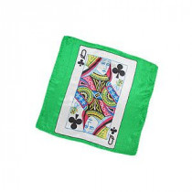 Seidentuch Karte - Queen of Clubs - 30 cm (12 inches)