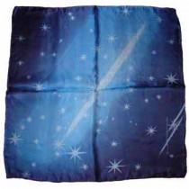Zombie silk - 65 cm x 65 cm - Blau Seidentuch Sterne