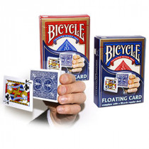 Floating card - with regular Bicycle deck