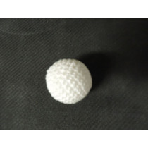 Crochet Balls Metal  - Häkelball weiss 2.5 cm