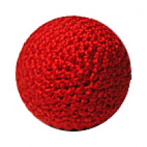 Crochet Ball (Red) 2.5 cm (Metal inlay)