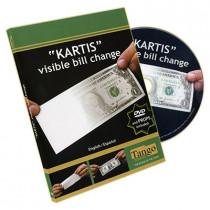 The Kartis Visible Bill Change (DVD and Gimmick)