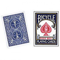 Bicycle deck - Three Way Forcing (blue back)