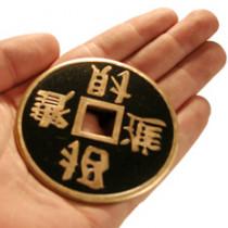 Jumbo Chinese 3 Coin (brass/black)