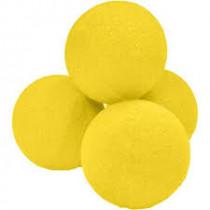 "3"" 4 Super Soft Sponge Balls (Yellow)"