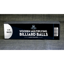 "Wooden Billiard Balls (1.75"" White) by Classic Collections"
