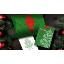 Paisley (Metallic Green with Christmas Gift Box) Playing Cards by Dutch Card House Company