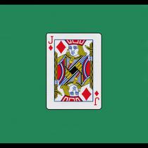 "Card Silk 18"" (Jack of Diamonds) by Vincenzo Di Fatta - Seidentuch"