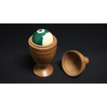 Deluxe Wooden Pool Ball Vase by Merlins Magic