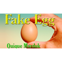 Fake Egg Brown by Quique Marduk / PVC Ei