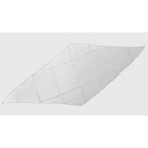 Diamond Cut Silk 18 inch (White) by Magic By Gosh - Seidentuch