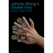 Double Face Super Triple Coin Eisenhower Dollar (with DVD) by Johnny Wong