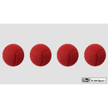 Rope Balls 1 inch / Set of 4 (Red) by Mr. Magic - Trick