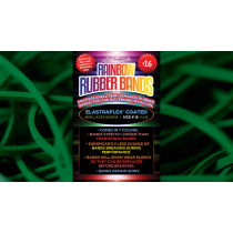 Joe Rindfleisch's SIZE 16 Rainbow Rubber Bands (Marcus Eddie - Green Pack  ) by Joe Rindfleisch - Trick