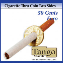 Cigarette thru coin (two sides) 50 Cents Euro by Tango - Münze