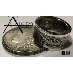 Kennedy Half Dollar Ring (Size: 10.5) by Alchemy Coin Rings
