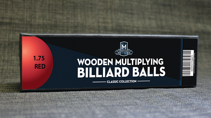 """Wooden Billiard Balls (1.75"""" Red) by Classic Collections"""