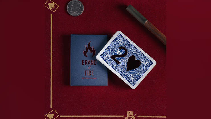 BRAND OF FIRE / BLUE(Gimmicks and Online Instructions) by Federico Poeymiro