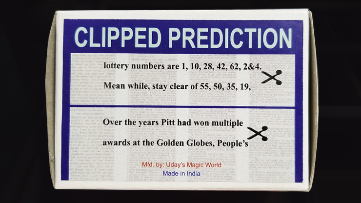 CLIPPED PREDICTION (Lotto/Golden Globe) by Uday