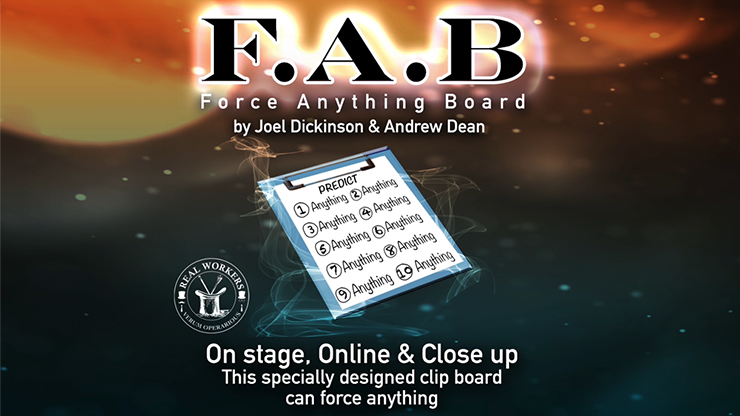 FAB BOARD A5/BLACK(Gimmicks and Online Instruction) by Joel Dickinson & Andrew Dean