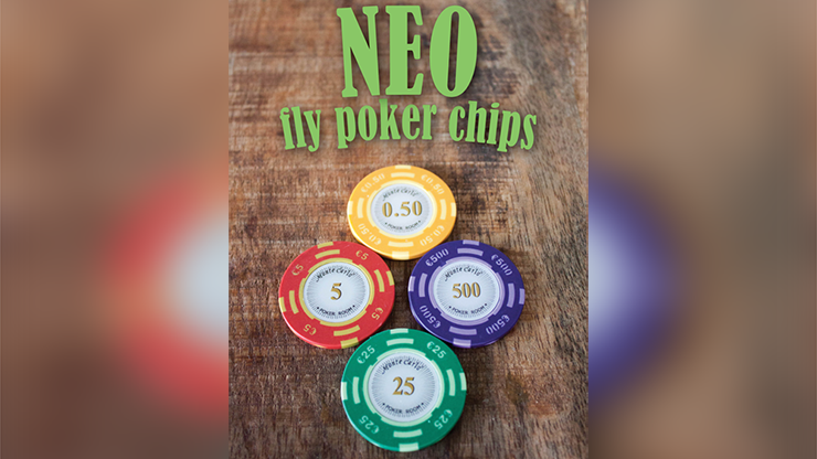 Neo Fly Poker Chips (Gimmicks and Online Instructions) by Leo Smetsers