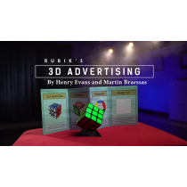Rubik's Cube 3D Advertising (Gimmicks and Online Instructions) by Henry Evans and Martin Braessas