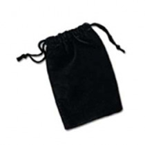 Samtbeutel schwarz / Velvet bag black
