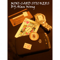 Mini Card Stickers (12 sheets) by Alan Wong