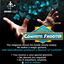 Confetti Shooter by Vernet Magic-Trick