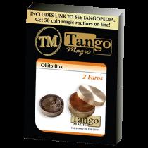 Okito Box (Brass) 2 Euro by Tango Magic  (B0004)
