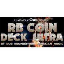 RB Coin Deck Ultra Red (DVD and Gimmicks) by Rob Bromley