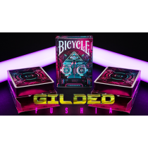 Gilded Fushia Bicycle Cybershock Playing Cards