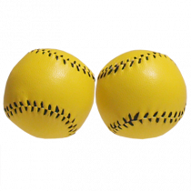 Chop Cup Balls Large Yellow Leather (Set of 2) by Leo Smetsers - Trick