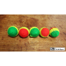Crochet 5 Ball Set Multicolor 1""