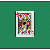 "Card Silk 18"" (Jack of Diamonds) by Vincenzo Di Fatta - Seidentuch"