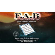 FAB BOARD A5/RED (Gimmicks and Online Instruction) by Joel Dickinson & Andrew Dean