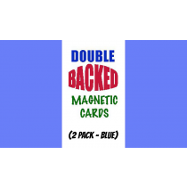 Magnetic Cards (2 pack/Blue) by Chazpro Magic.