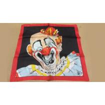 """Rice Picture Silk 18"""" (Circus Clown) by Silk King Studios - Seidentuch"""