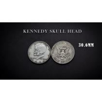 KENNEDY SKULL HEAD COIN by Men Zi  Magic