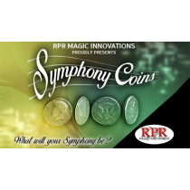 Symphony Coins (US Quarter) Gimmicks and Online Instructions by RPR Magic Innovations - Trick