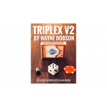TRIPLEX V2 by Wayne Dobson and Alan Wong (Gimmicks and Online Instructions)