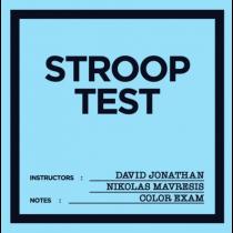 Stroop Test by David Jonathan & Nikolas Mavresis
