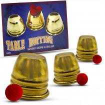Table Hopping Cups and Balls (Brass) (Mini Becherspiel)