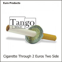 Cigarette through 2 Euro two sides - Münze