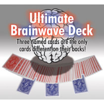 Ultimate Brainwave-Deck rot, blau sortiert / Large Index by Card-Shark