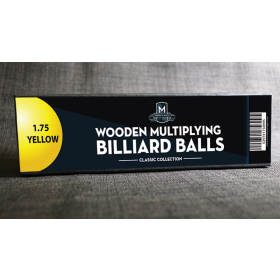 """Wooden Billiard Balls (1.75"""" Yellow) by Classic Collections"""